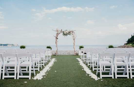waterfront wedding venues oceanview of nahant outdoor wedding ceremony