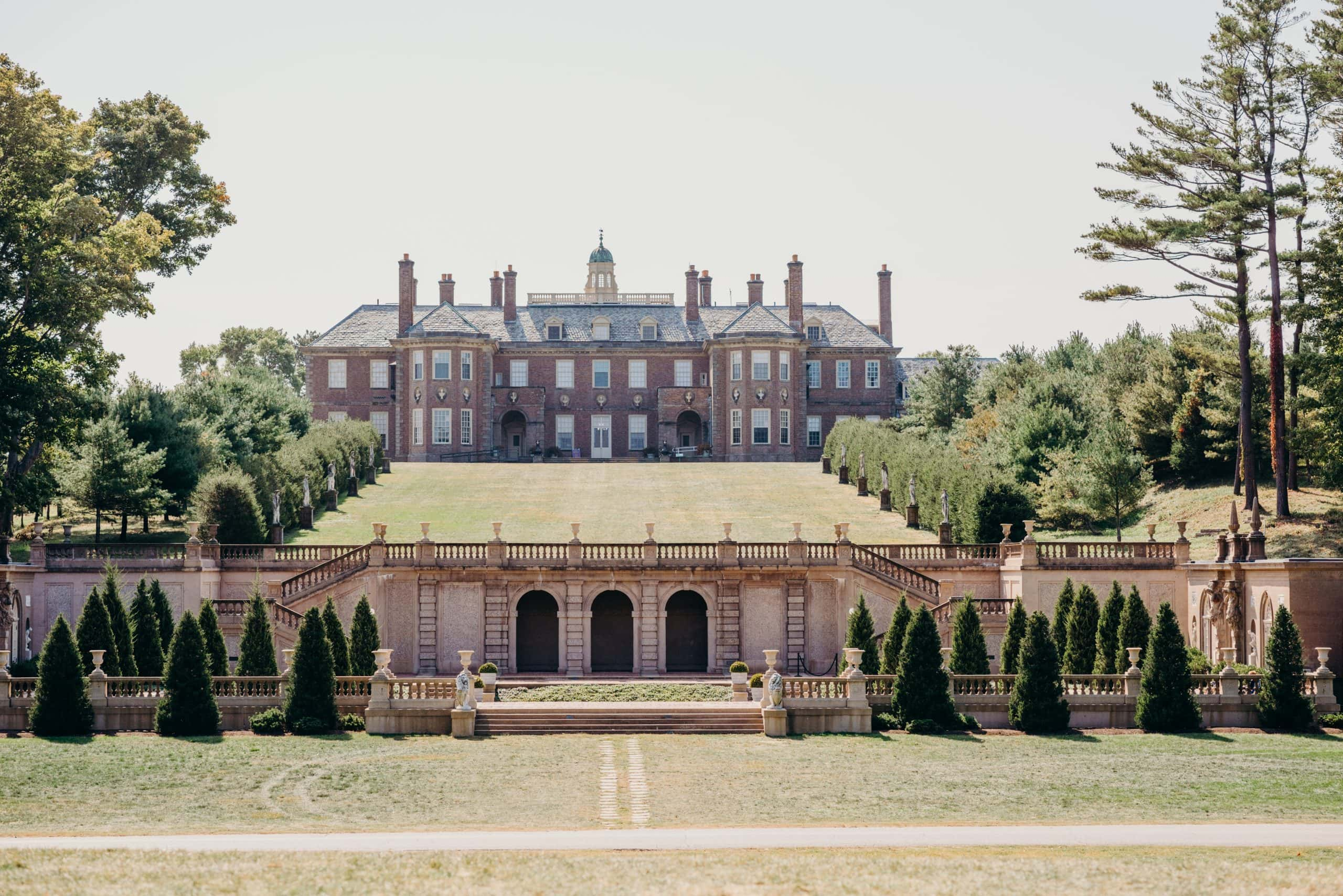 the great house mansion castle hill at the crane estate in Ipswich massachusetts