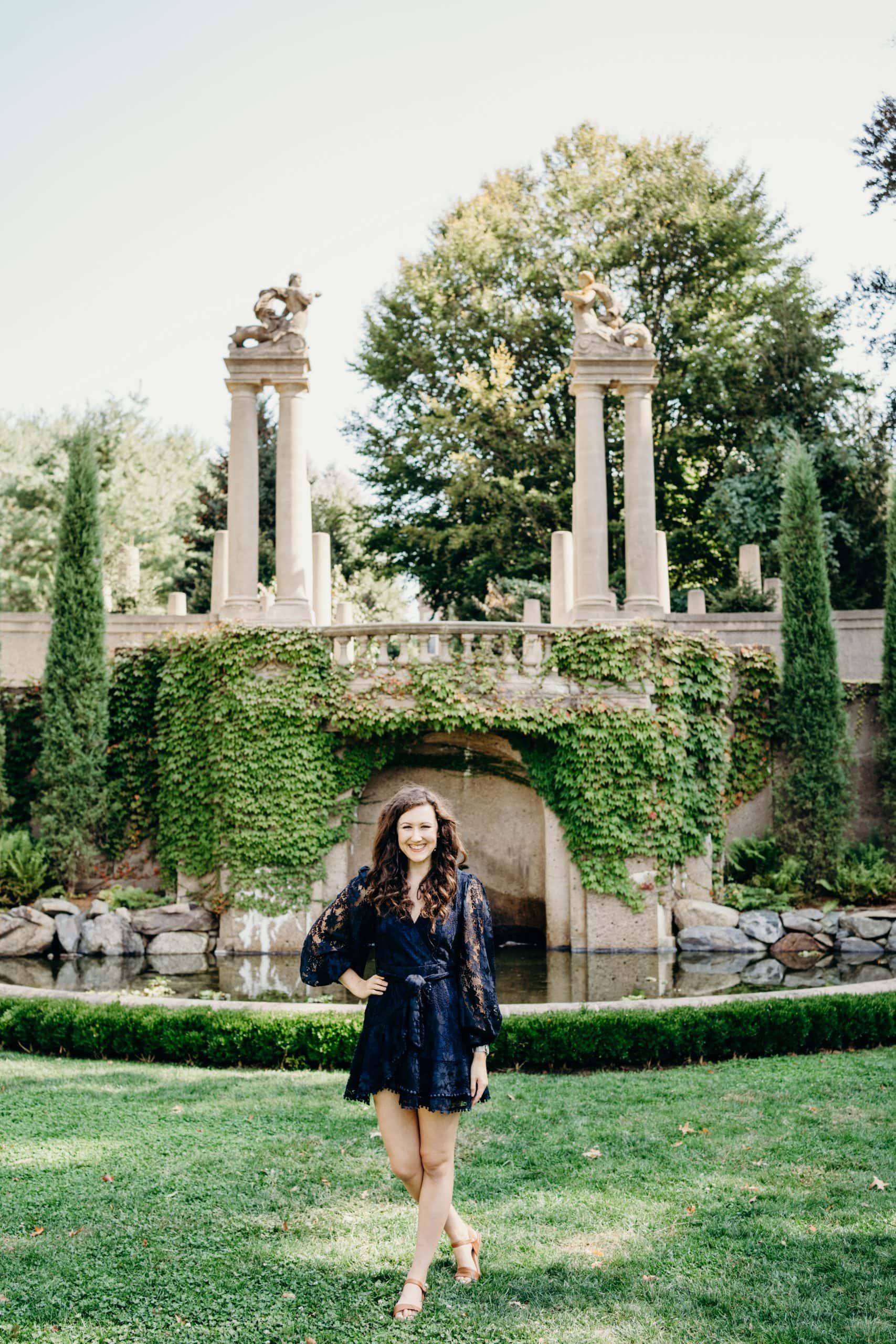 photographer Meghan Lynch at the crane estate