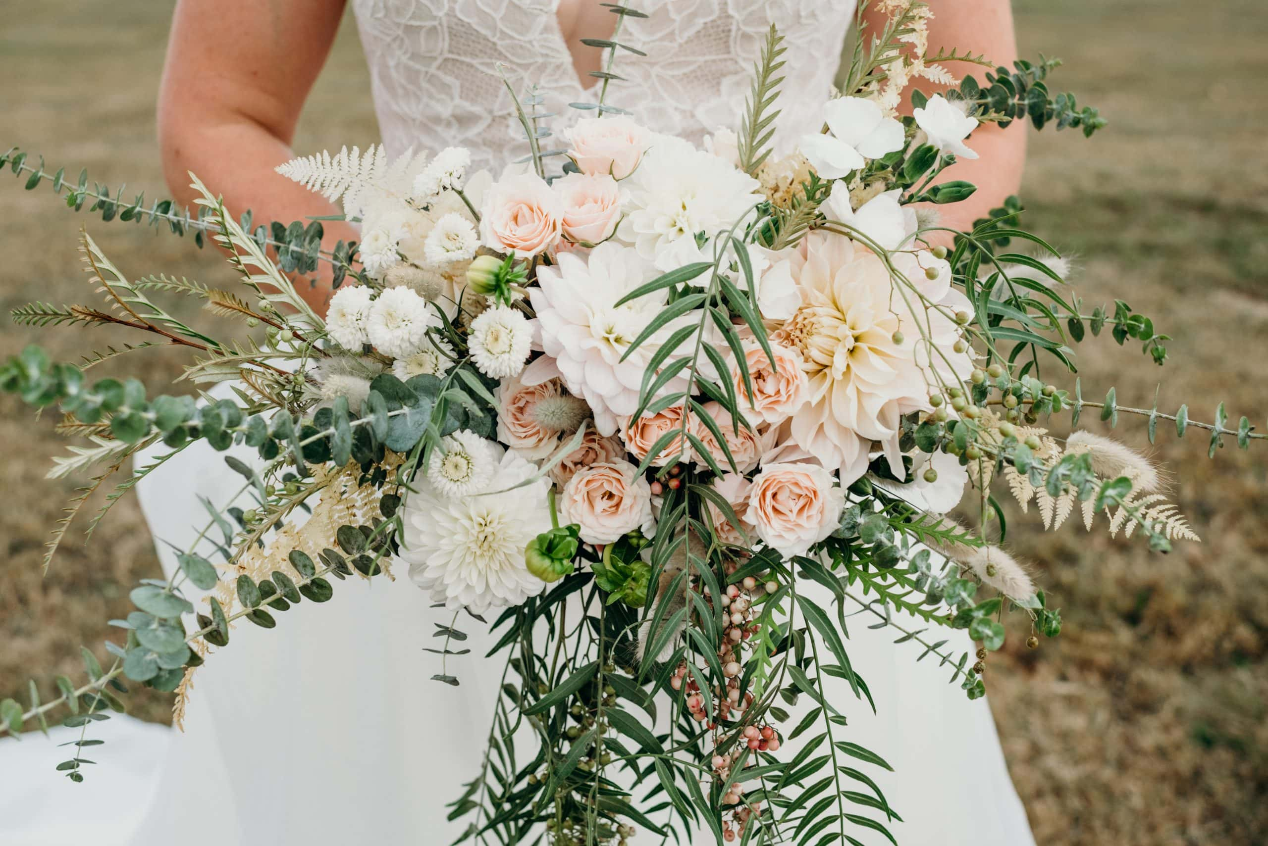 bridal bouquet portait designed by blossoming bough during a vermont destination wedding at the mountain top inn